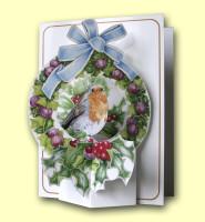 Robin in Wreath