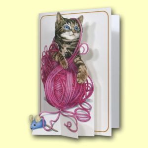 PIC203 Kitten & Ball of Wool